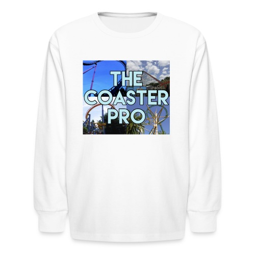 The Coaster Pro 4 Coaster Logo - Kids' Long Sleeve T-Shirt
