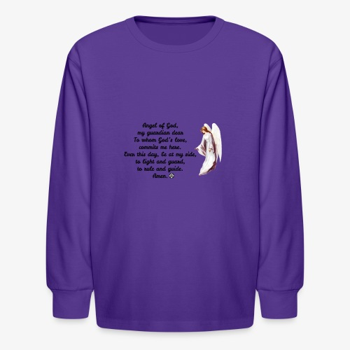 Guardian Angel prayer - Kids' Long Sleeve T-Shirt