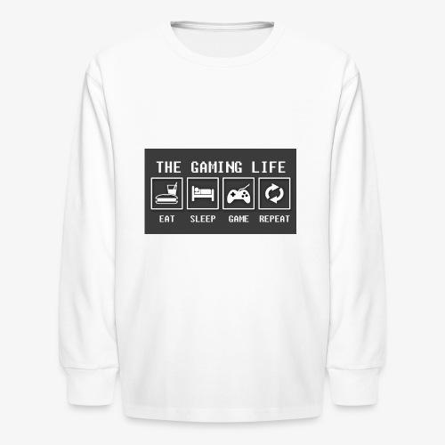 Gaming is life - Kids' Long Sleeve T-Shirt