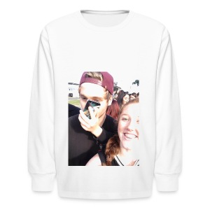 Luke Hemmings with a phone in his face - Kids' Long Sleeve T-Shirt