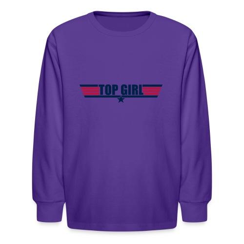 Top Girl - Kids' Long Sleeve T-Shirt