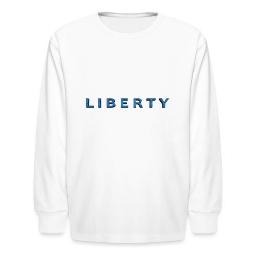 Liberty Libertarian Design - Kids' Long Sleeve T-Shirt
