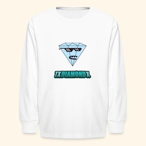 Txdiamondx Diamond Guy Logo - Kids' Long Sleeve T-Shirt