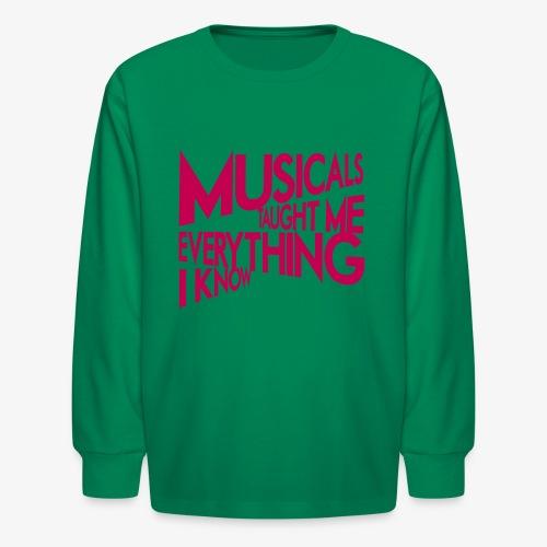 MTMEIK Pink Logo - Kids' Long Sleeve T-Shirt