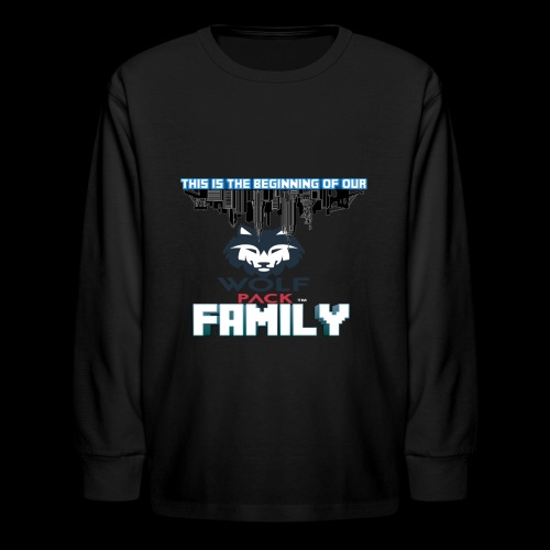 We Are Linked As One Big WolfPack Family - Kids' Long Sleeve T-Shirt