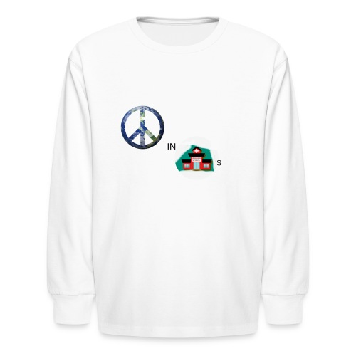 Peace In Schools - Kids' Long Sleeve T-Shirt