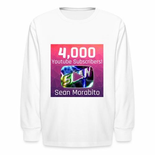 4000 Subs edited - Kids' Long Sleeve T-Shirt
