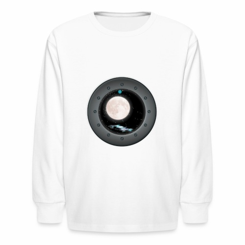 Space Window - Kids' Long Sleeve T-Shirt