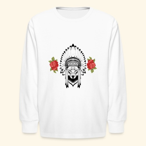 WOLF KING - Kids' Long Sleeve T-Shirt