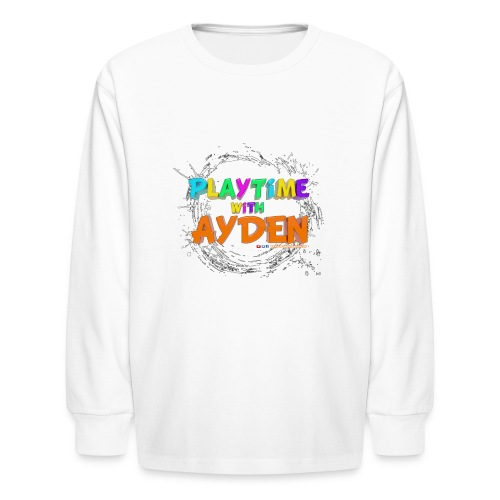 Playtime with Ayden - 1st edition - Red T-shirt - Kids' Long Sleeve T-Shirt