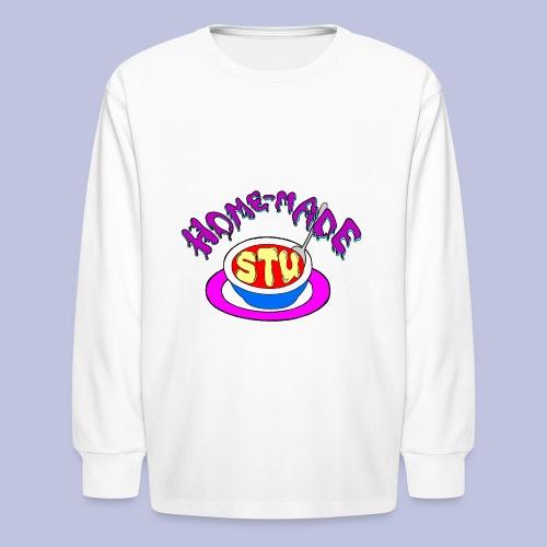 home made stu Logo - Kids' Long Sleeve T-Shirt