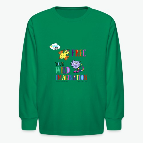 LOLAS LAB FREE YOUR WILD IMAGINATION TEE - Kids' Long Sleeve T-Shirt