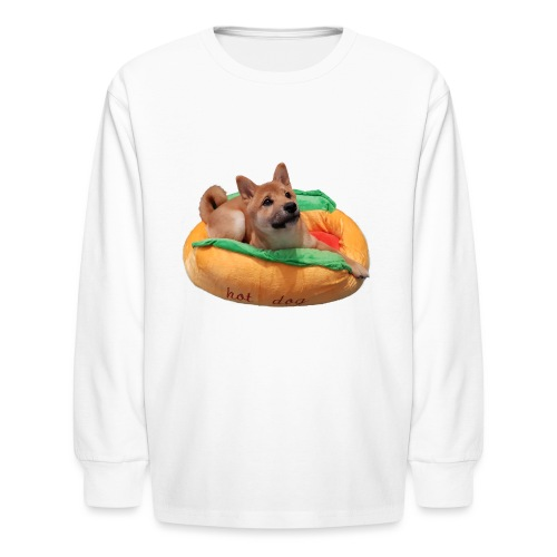 hot doge - Kids' Long Sleeve T-Shirt