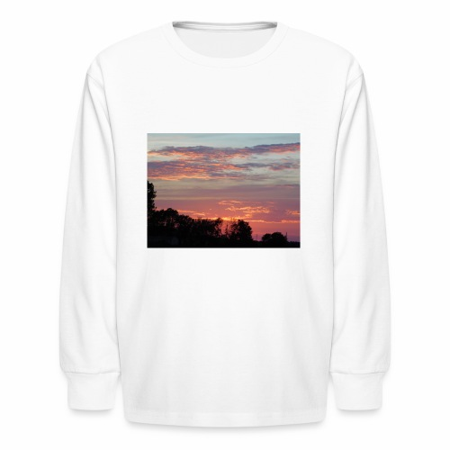 Sunset of Pastels - Kids' Long Sleeve T-Shirt