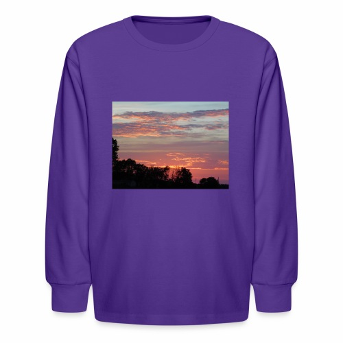 Sunset of Pastels - Kids' Long Sleeve T-Shirt