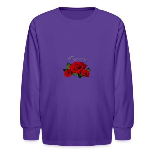rose shirt - Kids' Long Sleeve T-Shirt