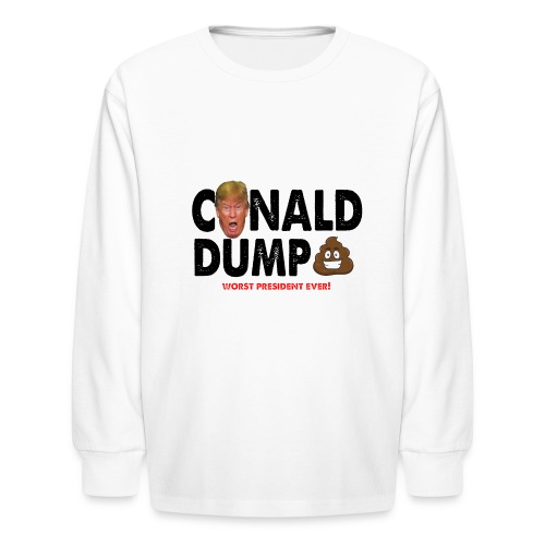 Conald Dump Worst President Ever - Kids' Long Sleeve T-Shirt