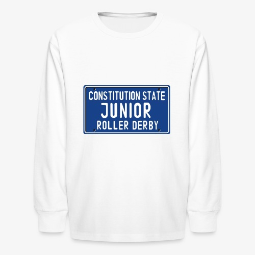 Constitution State Junior Roller Derby - Kids' Long Sleeve T-Shirt