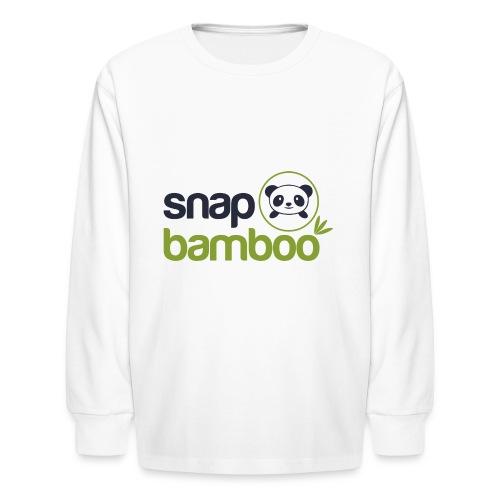 Snap Bamboo Square Logo Branded - Kids' Long Sleeve T-Shirt
