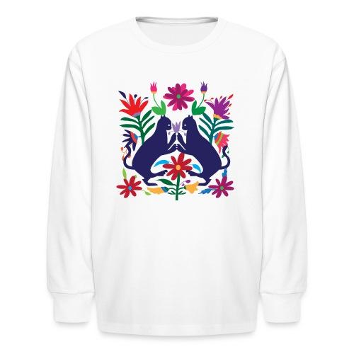 Otomi Cats S by TeeNERD - Kids' Long Sleeve T-Shirt