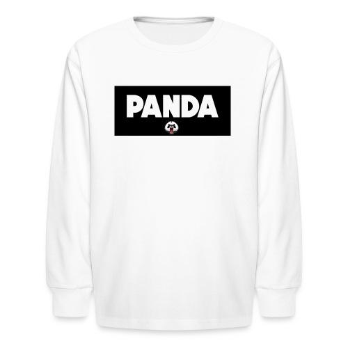 PandaSavageLogo - Kids' Long Sleeve T-Shirt