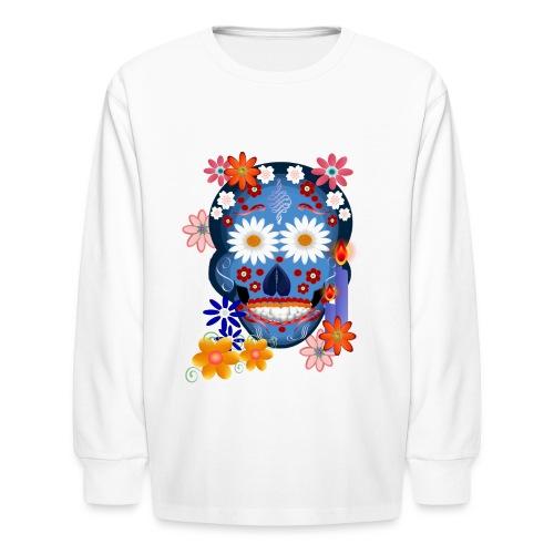 DarkSkull-day of the dead - Kids' Long Sleeve T-Shirt