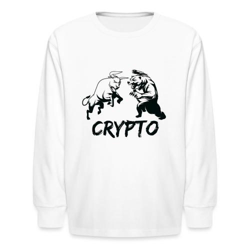 CryptoBattle Black - Kids' Long Sleeve T-Shirt