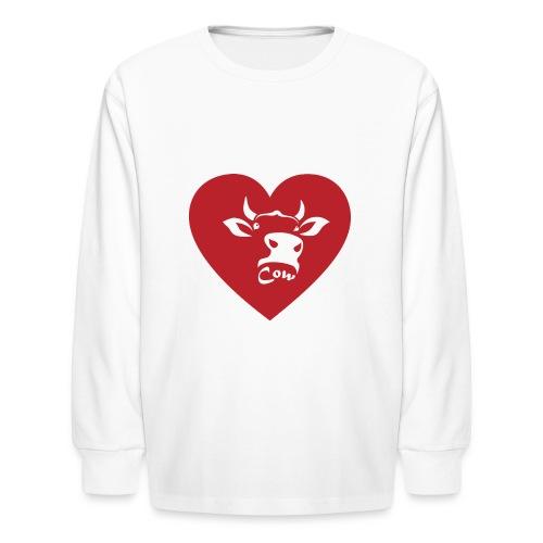 Cow Heart - Kids' Long Sleeve T-Shirt