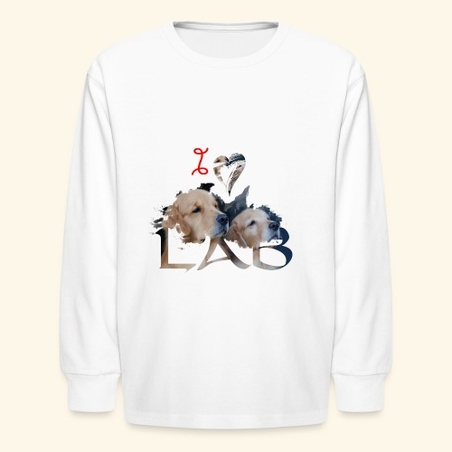 I love Lab - Kids' Long Sleeve T-Shirt