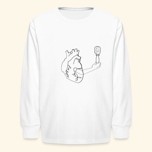 Wounded Heart - Kids' Long Sleeve T-Shirt