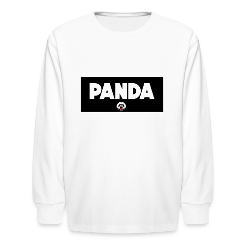 PandaSavageLogo - Kids' Long Sleeve T-Shirt