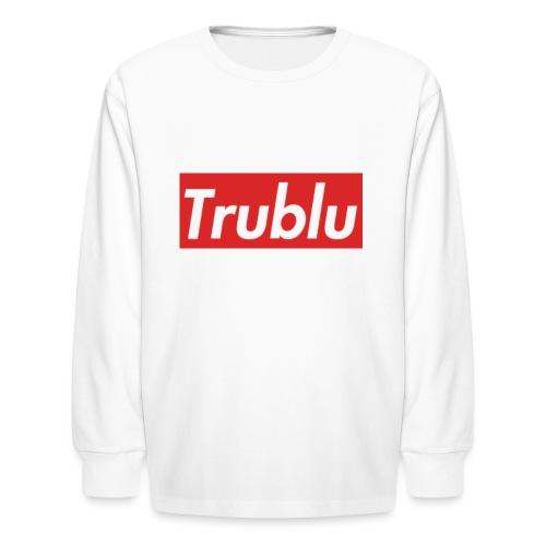 Trublu Red Box Logo(Big) - Kids' Long Sleeve T-Shirt