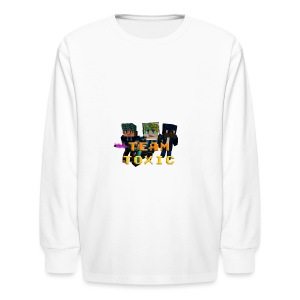 TeamToxic Merch Design 1 - Kids' Long Sleeve T-Shirt