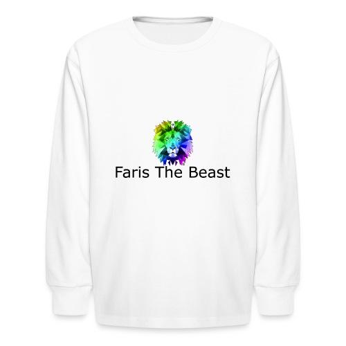 Faris The Beast Text w/ Logo - Kids' Long Sleeve T-Shirt