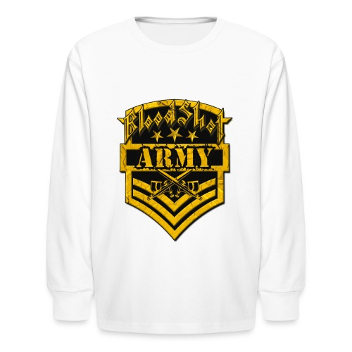 BloodShot ARMYLogo Gold /Black - Kids' Long Sleeve T-Shirt
