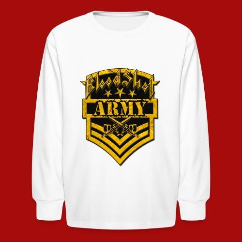 BloodShot ARMYLogo Gold /Black - Kids' Long Sleeve T-Shirt