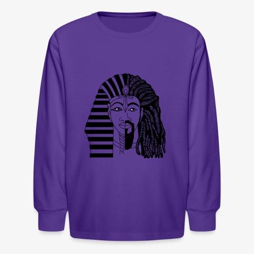 African King - BLACK HISTORY PRIDE - Kids' Long Sleeve T-Shirt