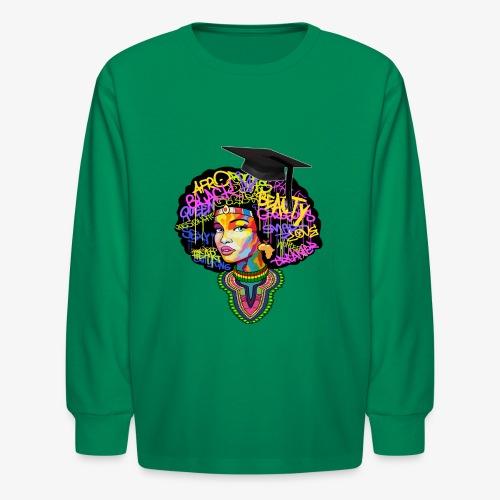 Graduation Melanin Queen Shirt Gift - Kids' Long Sleeve T-Shirt