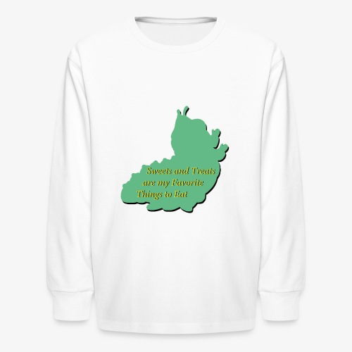 Sweets and Treats on the Chew Chew Train - Kids' Long Sleeve T-Shirt