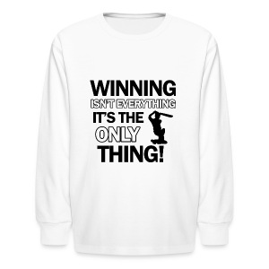 cricket wining tee - Kids' Long Sleeve T-Shirt
