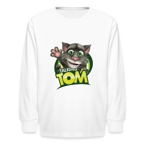 Talking_TOM_wave_preview_lowRes - Kids' Long Sleeve T-Shirt