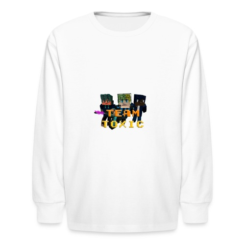 TeamToxic Merch Design 1 - Kids' Long Sleeve T-Shirt