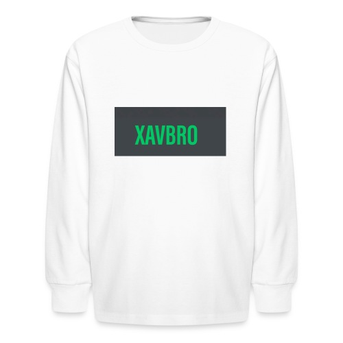 xavbro green logo - Kids' Long Sleeve T-Shirt