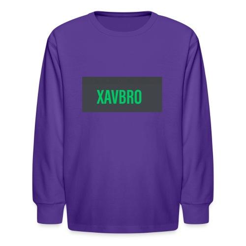 xavbro green logo - Kids' Long Sleeve T-Shirt