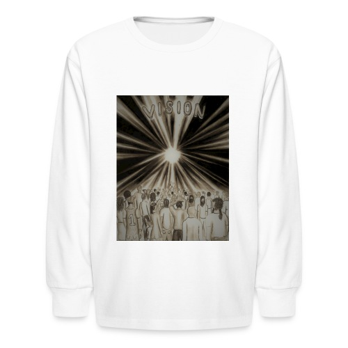 Black_and_White_Vision2 - Kids' Long Sleeve T-Shirt