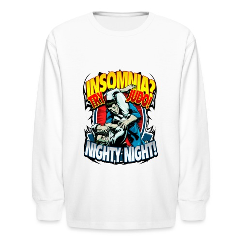Insomnia Judo Design - Kids' Long Sleeve T-Shirt