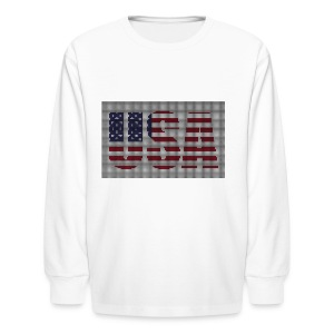 USA - Kids' Long Sleeve T-Shirt