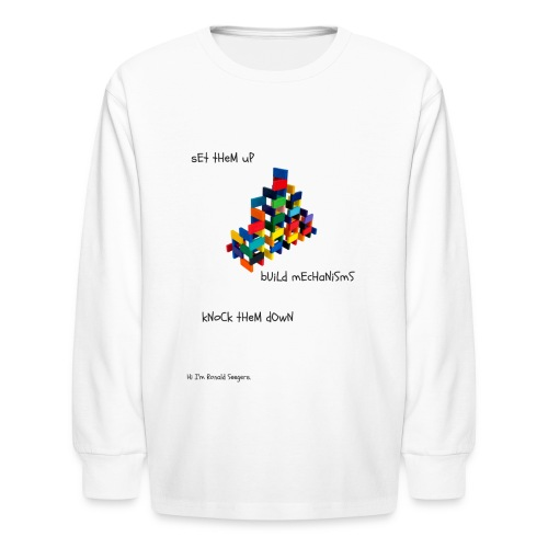 Hi I'm Ronald Seegers Collection-(transparent) - Kids' Long Sleeve T-Shirt