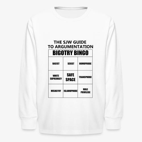 Bingo black - Kids' Long Sleeve T-Shirt