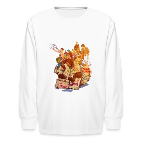 Skull & Refugees - Kids' Long Sleeve T-Shirt